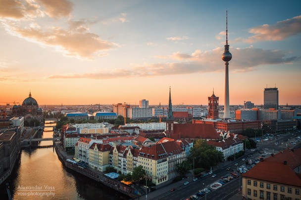 Berlin - Skyline im Sonnenuntergang