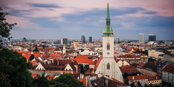Bratislava Skyline / St. Martin's Cathedral