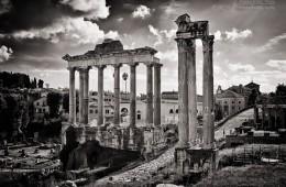 Schwarzweiss-Fotografie: Rom – Forum Romanum
