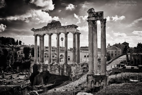 Black and White Photography: Rome – Forum Romanum