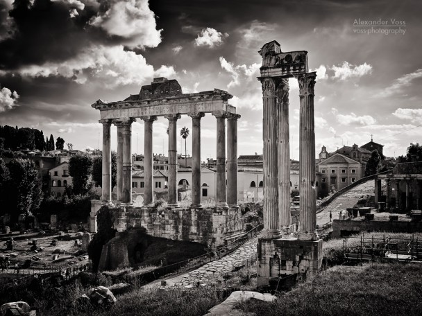 Black and White Photography: Rome - Forum Romanum