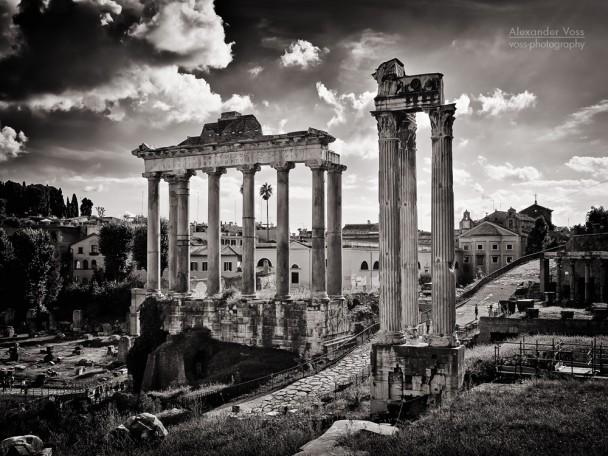 Black and White Photography: Rome - Forum Romanum