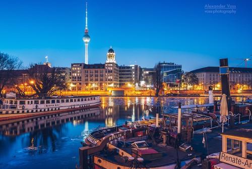Berlin im Winter – Historischer Hafen
