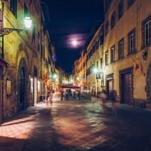 Full Moon over Volterra (Tuscany, Italy)