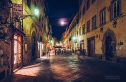 Vollmondnacht in Volterra (Toskana, Italien)
