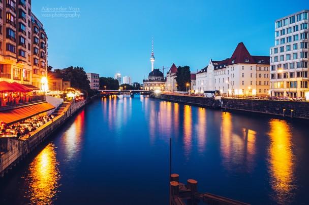 Berlin - View from Weidendamm Bridge