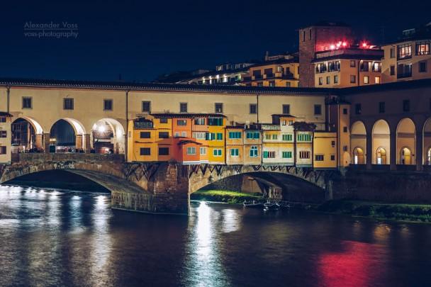 Florenz - Ponte Vecchio bei Nacht