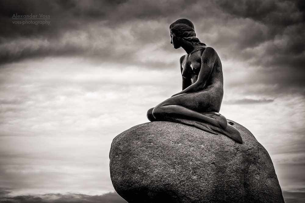 Black and White Photography: Copenhagen - The Little Mermaid