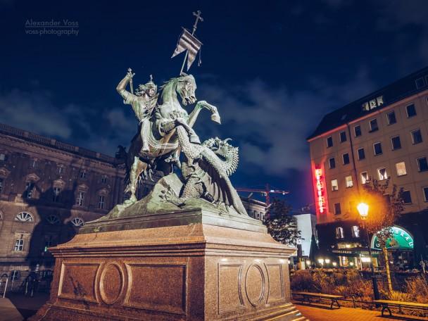 Berlin - Nicholas' Quarter / Saint George Statue