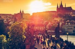 Prague – Charles Bridge in Sunset