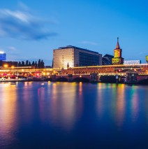 Berlin – Oberbaum Bridge / Spree River Panorama