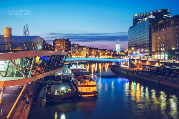Vienna - Donaukanal / Franz-Josefs-Kai