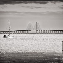 Black and White Photography: Øresund Bridge