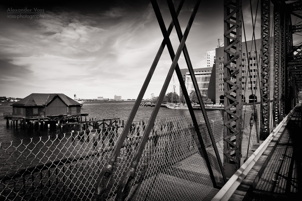 Black and White Photography: Boston – Northern Avenue Bridge