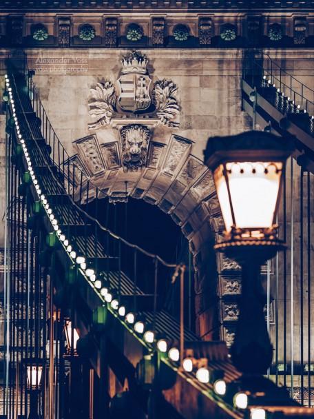 Budapest - Kettenbrücke bei Nacht