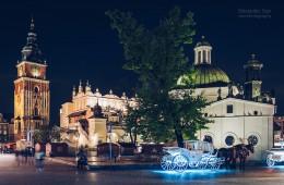 Krakau – Hauptmarkt bei Nacht