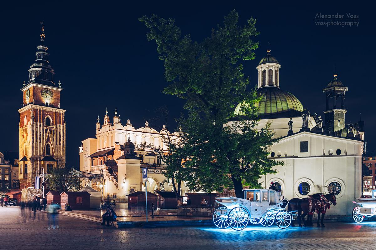 Kraków – Main Square at Night