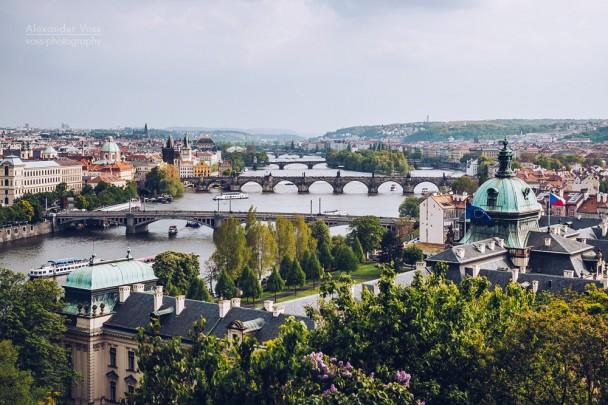 Prag - Blick über die Moldau