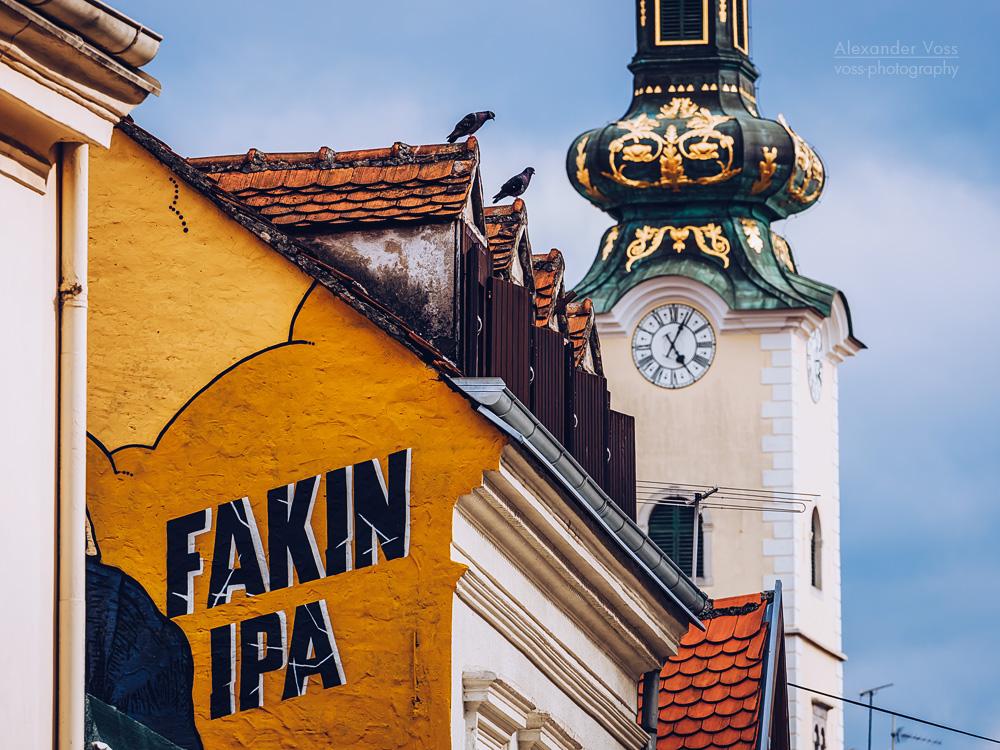 Zagreb – Tkalciceva Street / St. Mary's Church