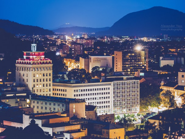Ljubljana at Night / Nebotičnik