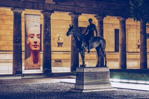 Berlin Museum Island - Colonnade Courtyard at Night