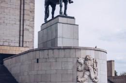 Prag – Nationaldenkmal am Veitsberg / Jan-Žižka-Statue