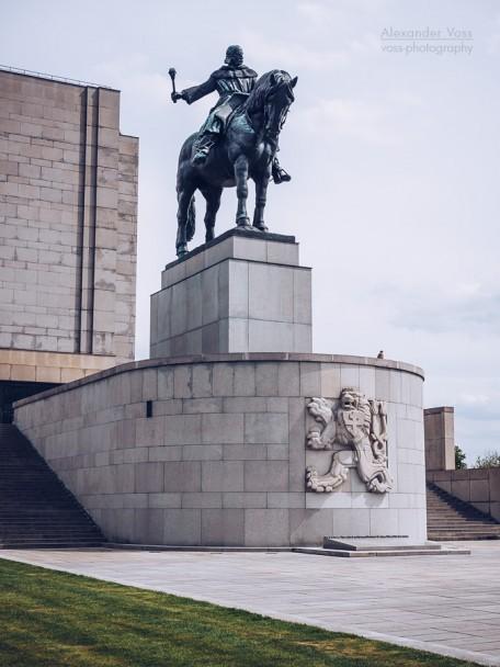 Prague - National Monument at Vitkov / Statue of Jan Žižka