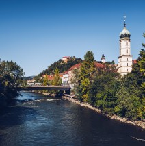 Graz – Mur River and Franciscan Church