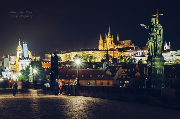 Prague - Charles Bridge at Night