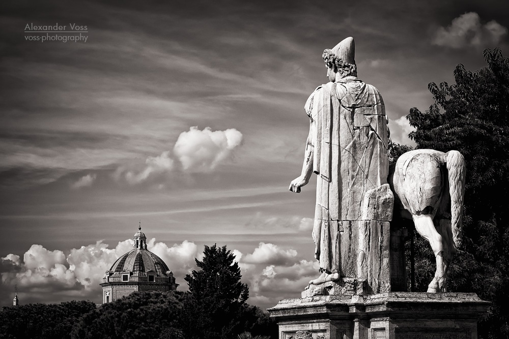 Black and White Photography: Rome – Capitoline Hill