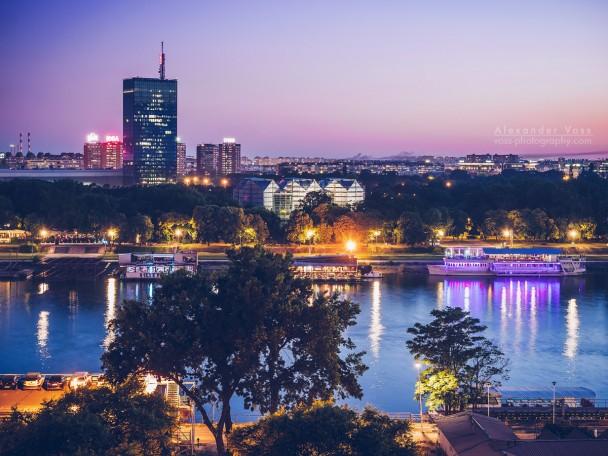 Belgrade - Blue Hour Skyline