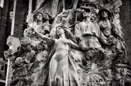 Schwarzweiss-Fotografie: Barcelona – Palau de la Música Catalana