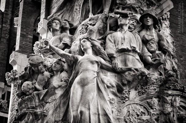 Schwarzweiss-Fotografie: Barcelona - Palau de la Música Catalana