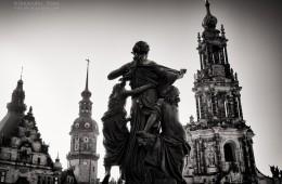 Schwarzweiss-Fotografie: Dresden – Schlossplatz