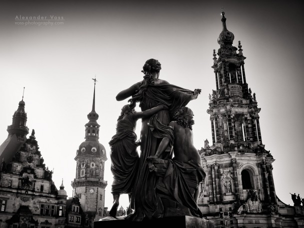 Black and White Photography: Dresden - Schlossplatz