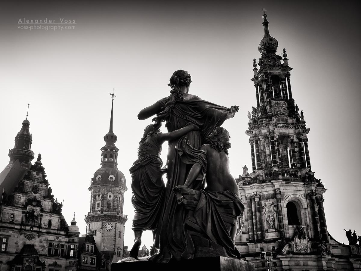 Black and White Photography: Dresden – Schlossplatz
