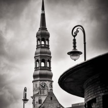 Black and White Photography: Hamburg – St. Catherine's Church