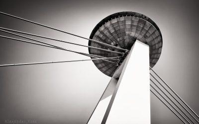 Architectural Photography (Black and White): Bratislava – Most SNP