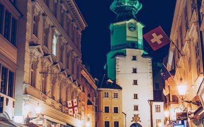Bratislava – St. Michael's Gate by Night