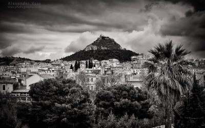 Black and White Photography: Athens – Mount Lycabettus