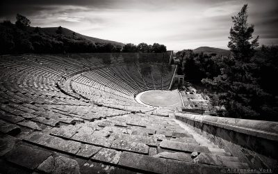 Black and White Photography: Ancient Theatre of Epidaurus