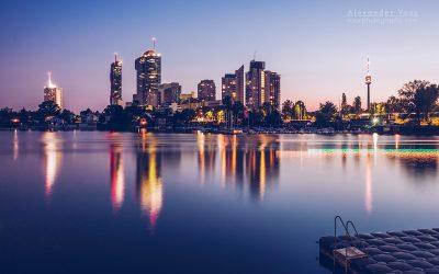 Vienna – Donau City Skyline / Alte Donau