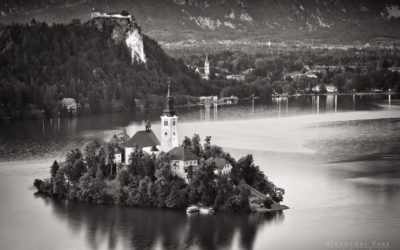 Black and White Photography: Lake Bled (Slovenia)