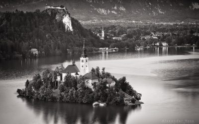 Black and White Photography: Lake Bled (Slovenia)