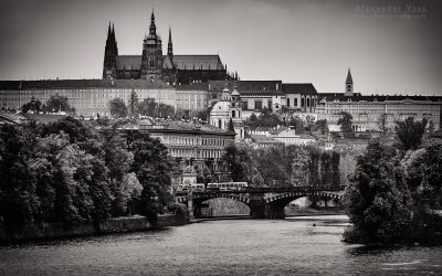 Black and White Photography: Prague Skyline / St. Vitus Cathedral