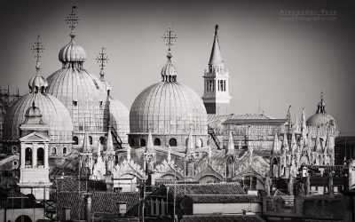 Black and White Photography: Venice – St Mark's Basilica