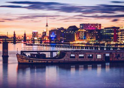 Berlin - Osthafen Skyline / Mediaspree