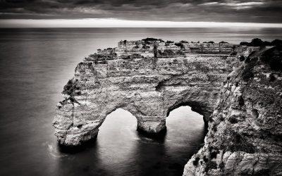 Schwarzweiss-Fotografie: Algarve – Praia da Marinha