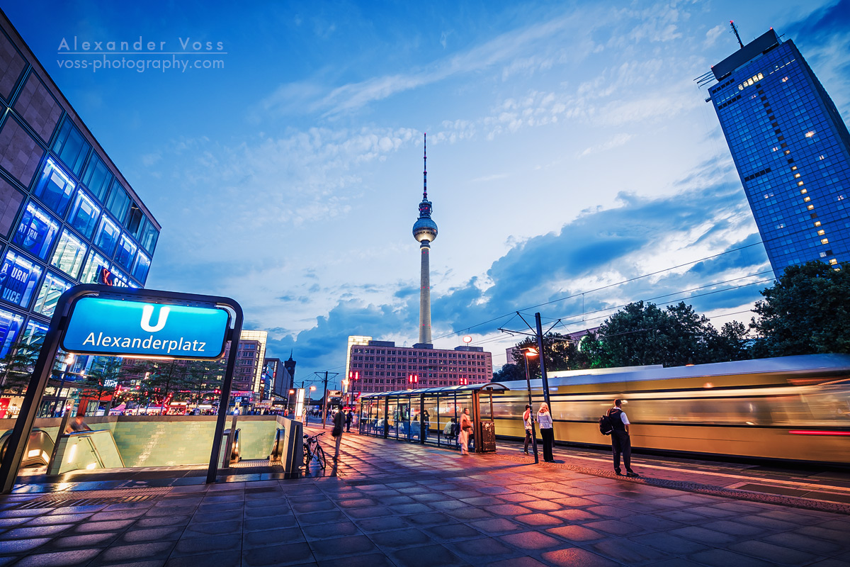 Blue hour over Berlin Alexanderplatz