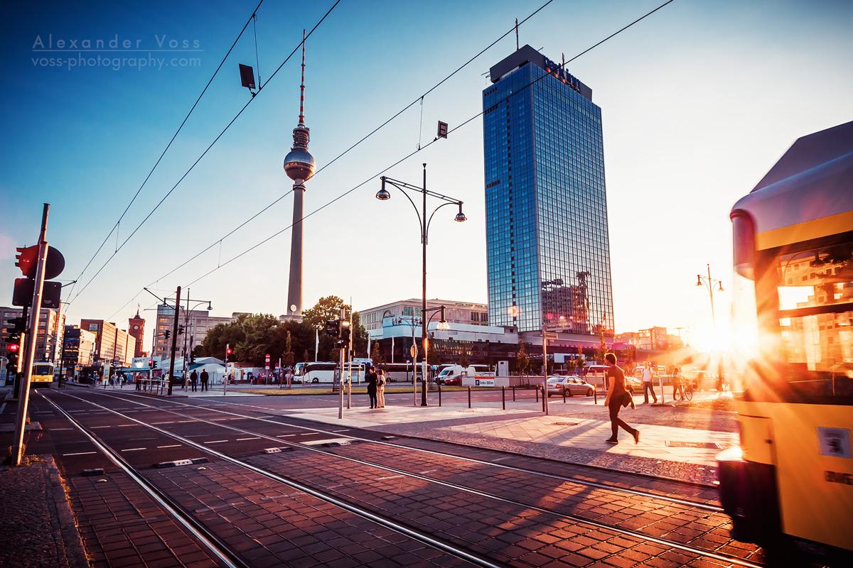 Berlin - Alexanderplatz at Sunset